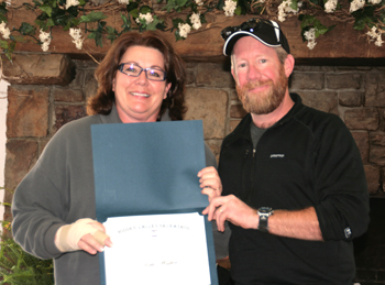 2011 Patroller of the Year - Vicki Walker Award Presented by Patroller Director Mike Wallace
